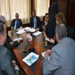 الإجتماع الشهري لمجلس التعليم والطلاب بجامعه السادات